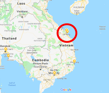 Da Nang Vietnam Map